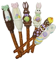 Pretzel Rods Molded Easter Theme