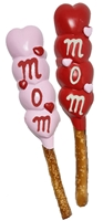 Pretzel Rods Molded Mom's Heart