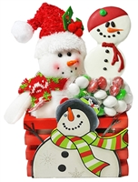 Snowman Sweet Treats Gift Bouquet