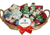 Sweet Treats Assorted Holiday Logo Gift Basket