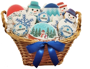 Sweet Treats - Winter Logo Cookie Basket of 18