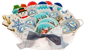 Sweet Treats - Winter Logo Cookie Basket of 30