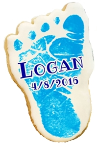 Printed Cookies Baby Feet