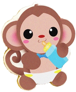 Printed Cookies Baby Monkey
