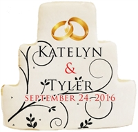 Printed Cookies Wedding Cake