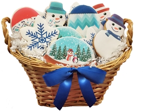 Sweet Treats - Winter Cookie Basket of 12