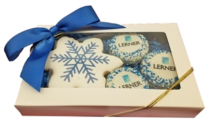 Direct Print - Winter Logo Cookie Gift Box of 4