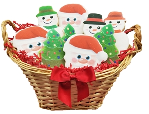 Sweet Treats - Christmas Cookie Basket of 12