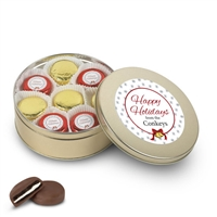 Personalized Happy Holidays Foiled Oreo Gift Tin of 16