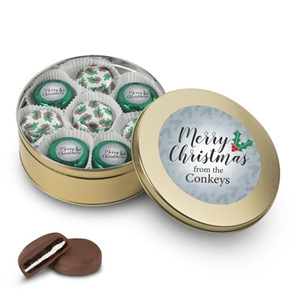 Personalized Merry Christmas Foiled Oreo Gift Tin of 16