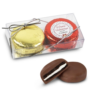 Personalized Happy Holidays Foiled Oreos - 2 pk