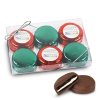 Your Logo Holiday Foiled Oreos - 6 pk