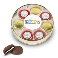 Your Logo Holidays Foiled Oreo Gift Box of 8