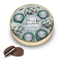 Personalized Merry Christmas Foiled Oreo Tin of 8
