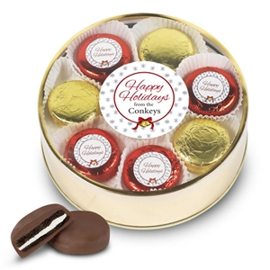 Personalized Happy Holidays Foiled Oreo Tin of 16