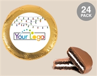 Foil Wrapped Holiday Oreo® Cookies - Logo, 2 dozen