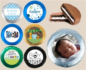 Foil Wrapped Oreo® Cookies - Baby Boy, Set of 24