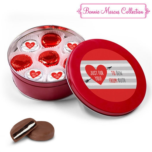 Personalized Valentine S Day Tin 16 Chocolate Covered Oreos