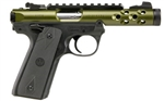 "Ruger Mark IV 22/45 Green Gold Anodized 4.4"" 22LR 43916"