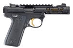 "Ruger Mark IV 22/45 Lite Black w/ Gold  4.4"" 22LR 43927"