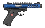 "Ruger Mark IV Lite Blue Anodized 4.4"" 22LR 43936"