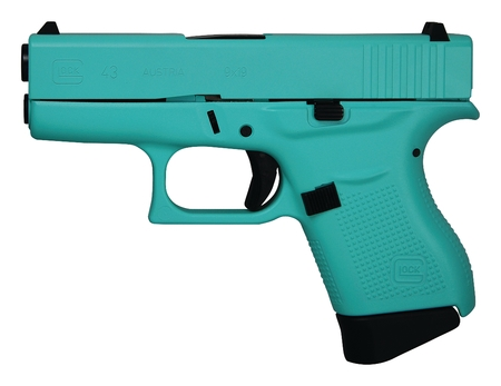 Champion Firearms Glock 43 Eggshell Blue Cerakote 9mm Pi4350201eb