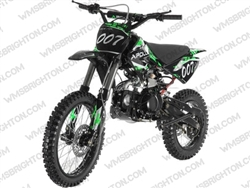 "Apollo DB-007 | 17""/14"" Wheels, Full Manual, Kick Start Dirt Bike"