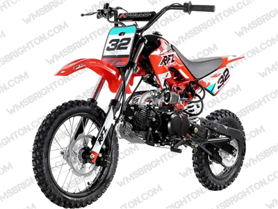 "Apollo DB-32 | 14""/12"" Wheels, Semi-Auto, Kick Start Dirt Bike"