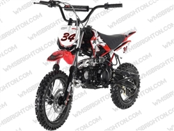 "Apollo DB-34 | 14""/12"" Wheels, Semi-Auto, Kick Start Dirt Bike"