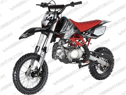"Apollo DB-X14 | 14""/12"" Wheels, Semi-Auto, Kick Start Dirt Bike"