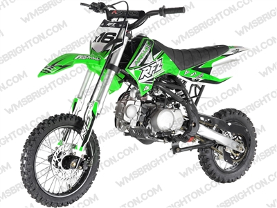 "Apollo DB-X16 | 14""/12"" Wheels, Full Auto, Kick Start Dirt Bike"