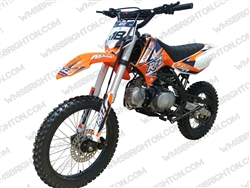 "Apollo DB-X18 | 17""/14"" Wheels, Full Manual, Kick Start Dirt Bike"