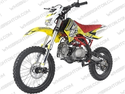 "Apollo DB-X19 | 17""/14"" Wheels, Headlight, Full Manual, Kick Start Dirt Bike"
