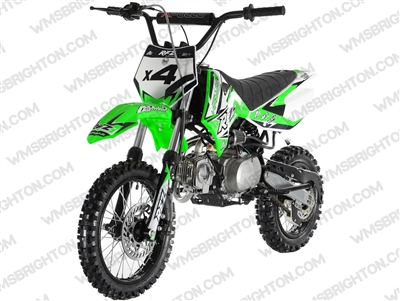 "Apollo DB-X4 | 14""/12"" Wheels, Semi-Auto, Kick Start Dirt Bike"