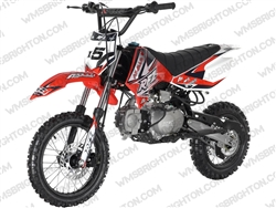 "Apollo DB-X5 | 14""/12"" Wheels, Full Manual, Kick Start Dirt Bike"