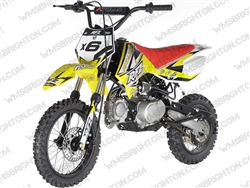 "Apollo DB-X6 | 14""/12"" Wheels, Full Auto, Kick Start Dirt Bike"