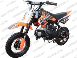 "Coolster 210 | 10"" Wheels, CA Legal, Semi-Auto, Kick Start Dirt Bike"