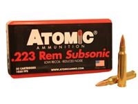 Atomic Ammunition 223 Remington Subsonic 77 Grain