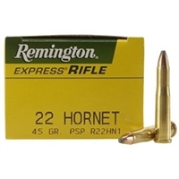 Remington Express 22 Hornet 45 Grain Pointed Soft Point