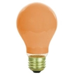 25A19 Ceramic Orange 120 Volt E-26 Base, 25 Watt A-19 Ceramic Orange Bulb, Orange Light Bulb, Orange lights
