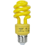 PL13SE/YELLOW/120V Yellow CFL E26 Base, 13 Watt Yellow Coil Light, 13 Watt Yellow CFL, 13 Watt Yellow CFL Spiral, Sunlite #05503-SU, #05503-SU