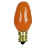 7C7/CERAMIC ORANGE/130V 7 WATT CERAMIC ORANGE C7 E12 BASE,7C7CO,7C7/CO,7C7 FROSTED ORANGE,7C7CO