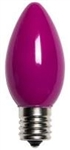 7C7/CERAMIC PURPLE/130V 7 WATT CERAMIC PURPLE C7 E12 BASE,7C7CP,7C7/CP,7C7 FROSTED PURPLE,7C7CP,BIRNE,BOMBILLA,BULBO,AMPOULE