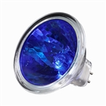 EXN/BLUE (50W/12V) Flood MR16 With Lense GX5.3 Base, EXN/Blue, EXN-Blue, ANSI Code EXN/Blue, 50 Watt 12 Volt Blue EXN MR16 GX5.3 Base, Halco #107172