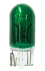 #161G GREEN MINIATURE BULB GLASS WEDGE BASE, GREEN T3 1/4 WEDGE 14V .19A 1CP, #161G, 161G, #161 GREEN  BULB, #161 GREEN MINIATURE, #161 GREEN LAMP, #161 GREEN MINIATURE LAMP, GREEN #161 INDICATOR