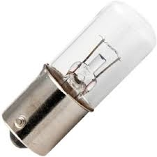 #1874 MINIATURE BULB BA15S BASE, T5 SC BAY 3.7V 2.75A 11CP, #1874, #1874 BULB, #1874 LAMP, #1874 MINIATURE, #1874 MINIATURE LAMP, #1874 INDICATOR