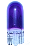 #194P PURPLE MINIATURE BULB GLASS WEDGE BASE, PURPLE PAINTED T3 1/4 WEDGE 14V .27A, 194P, #194P, #194P BULB, #194P MINIATURE, #194P MINIATURE LAMP, #194P LAMP, #194P INDICATOR