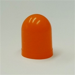 Orange Colored Bulb Cover For T1-1/4 Wire Terminal Base Bulbs, autometer covers, silicone boots, colored bulb covers, color filter caps