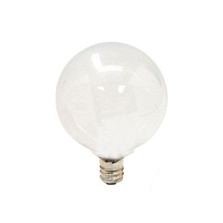 GE 40GC/W 40-Watt Incandescent G16.5 Globe Candelabra Base Soft White Light Bulb, GE 40GC/W, GE UPC #04316890892