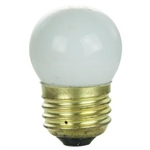 7-1/2S11/CWHITE/130V 7.5 WATT CERAMIC WHITE S11 E26 BASE